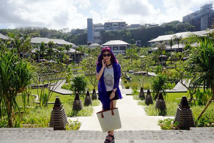 rice paddies water temple bali