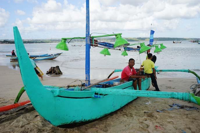 indonesia bright fisherman boats, jukung