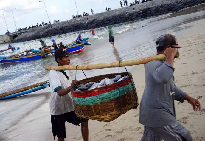 fishermen indonesia, fish basket