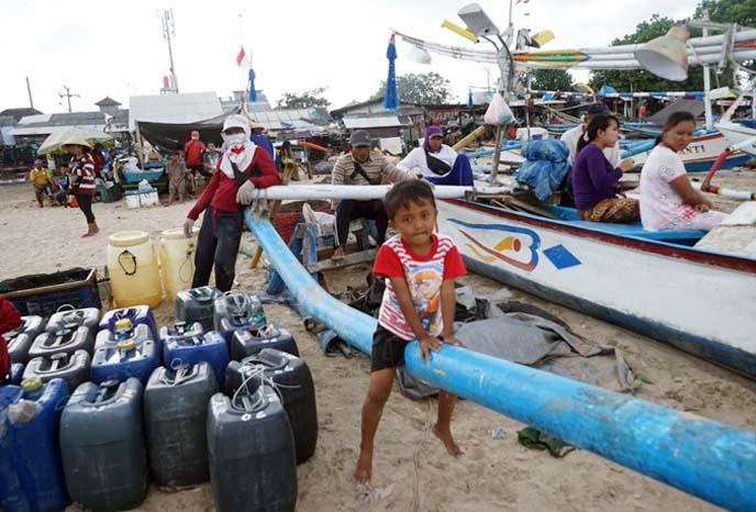 indonesia boats, jimbaran village
