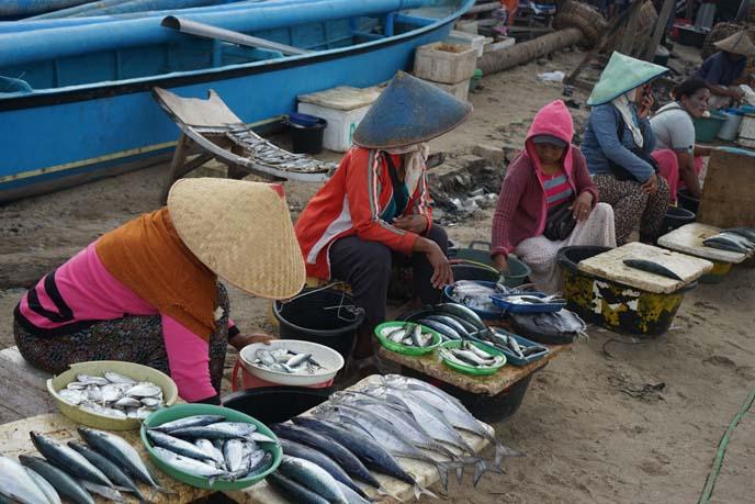 indonesian women selling fish