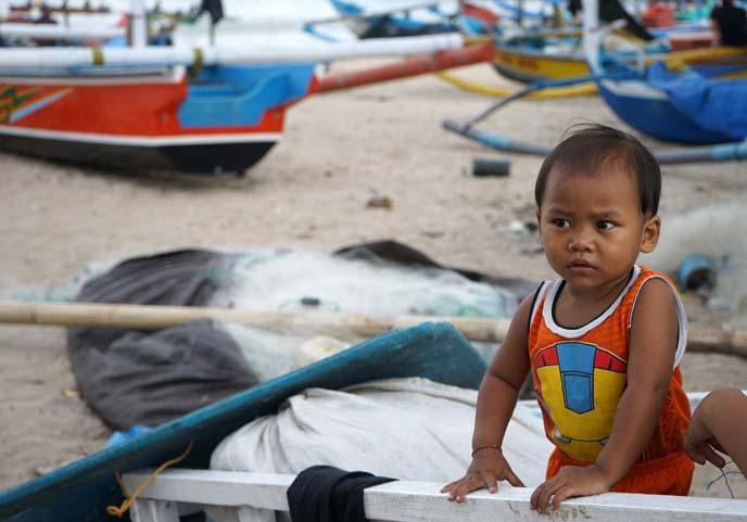jimbaran beach, indonesian toddler