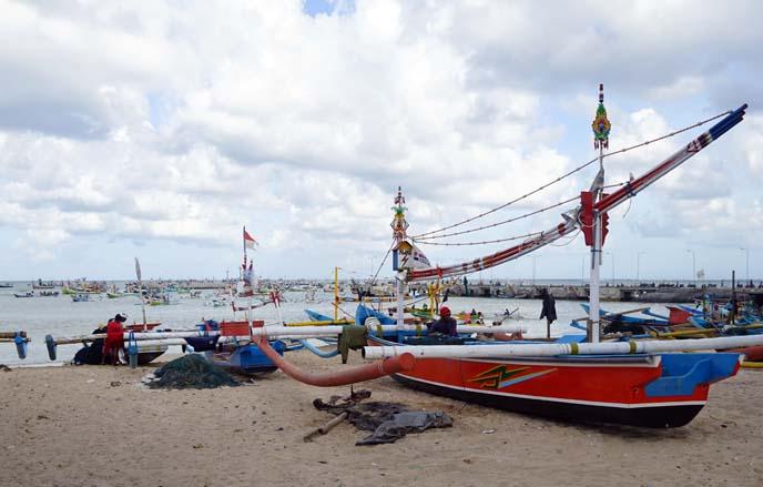 jimbaran bay bali, fishing boats