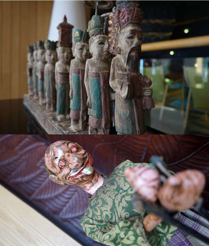 traditional balinese sculptures, wood carved figures