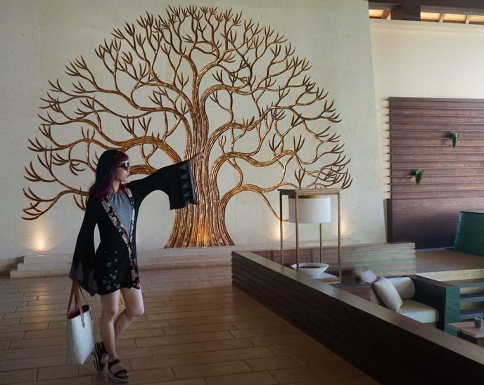 banyan tree buddhist mural
