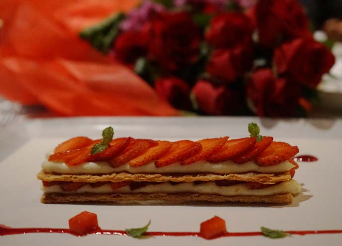 strawberry millefeuille dessert
