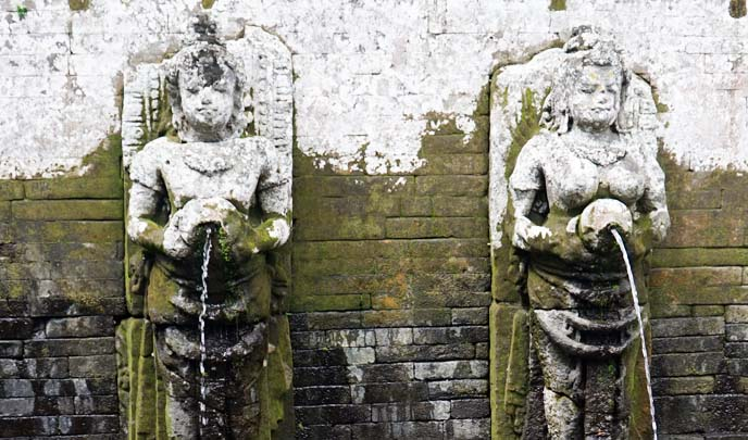 bali buddhist fountains, elephant cave