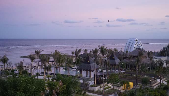 bali indonesia pink sunset