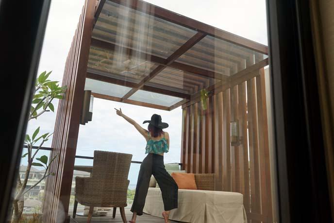 bali honeymoon villa patio