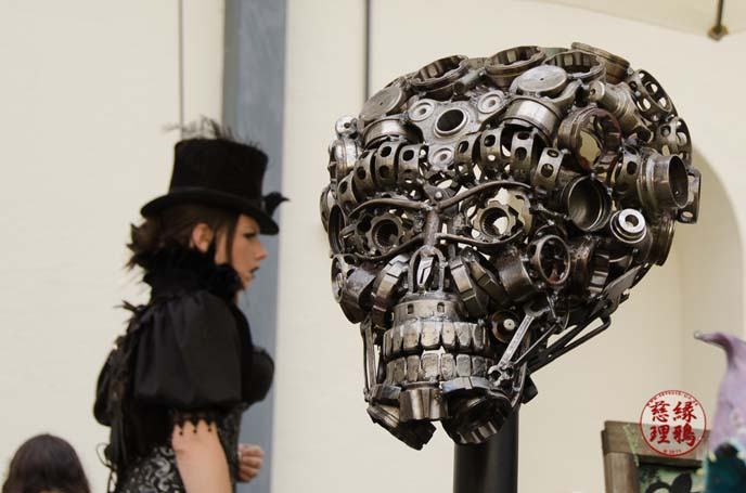 metal steampunk art sculpture