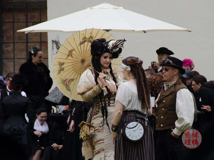 steampunk lady hat, parasol