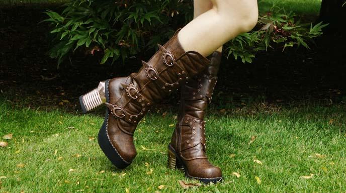steampunk boots, heels