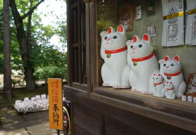 gotokuji maneki neko statues