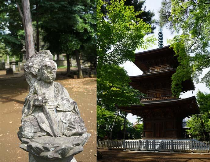 gotokuji pagoda, roof