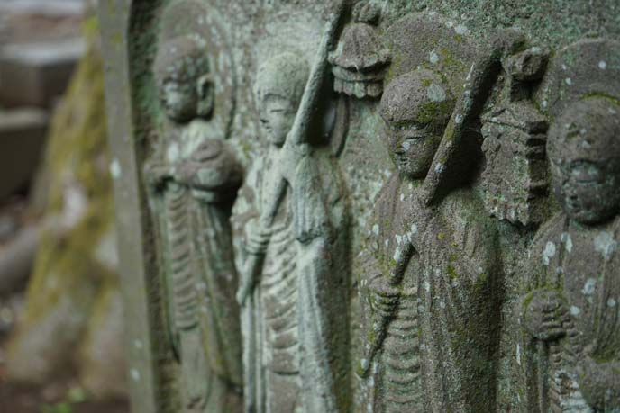 buddhist graveyard stones