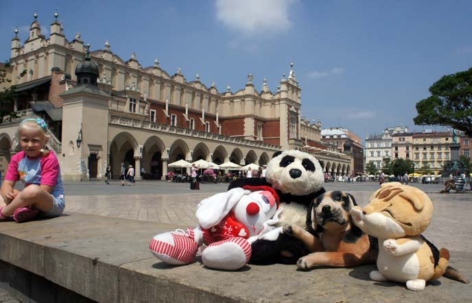 stuffed toy tour group