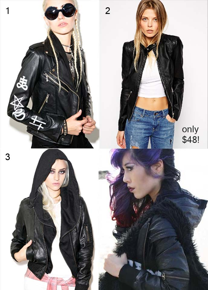 leather goth jackets
