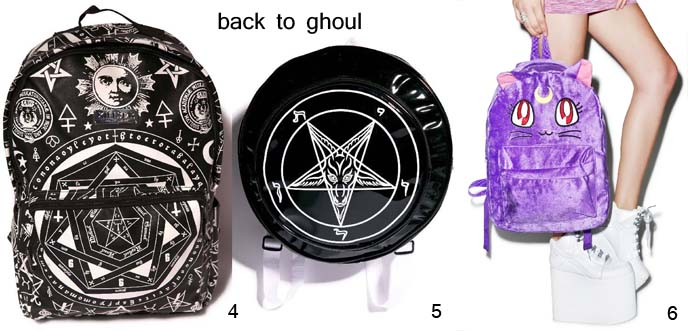 goth backpacks, gothic bags