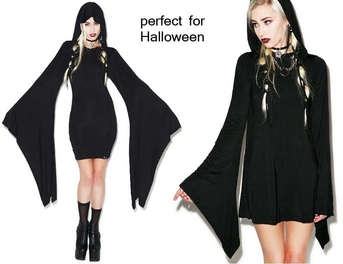 witch hooded dress, killstar