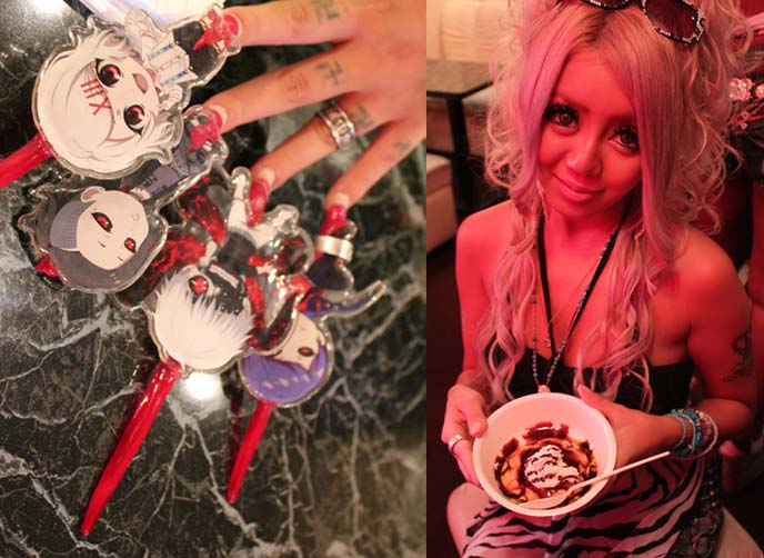 Tokyo Ganguro Cafe Robot Sushi Gyaru Black Diamond Makeover