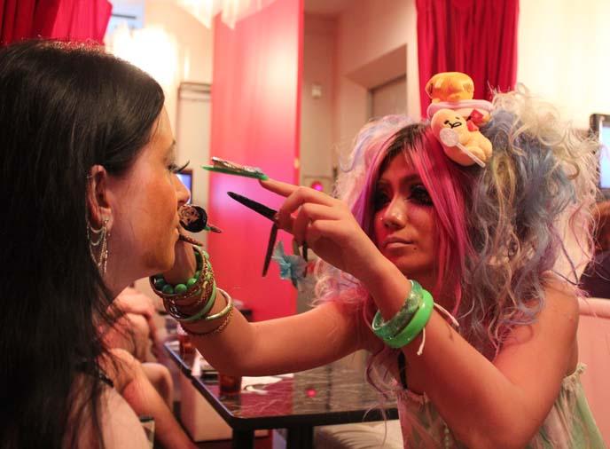 ganguro cafe makeup makeover