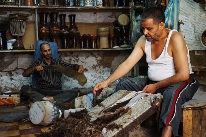 morocco tannery, animal hides