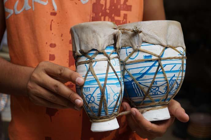 fez camel hide drum
