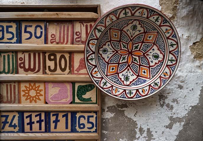 fes morocco plates, artwork