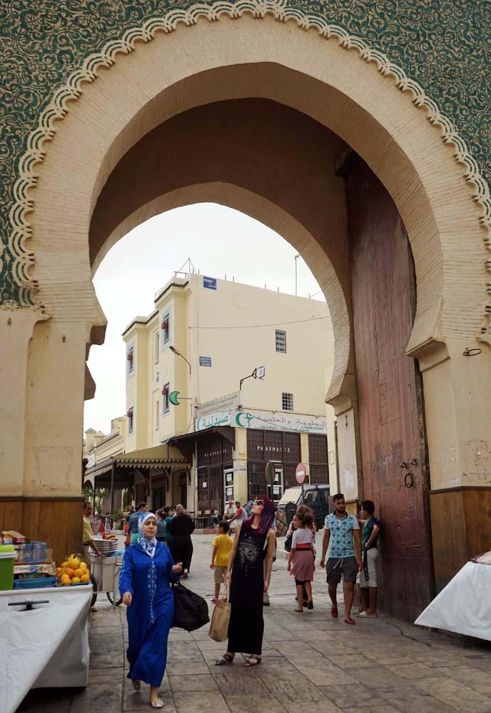 fez medina blue gate, Bab Boujloud
