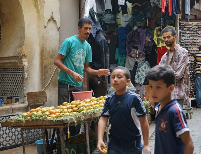 fez fruit sellers, morocco