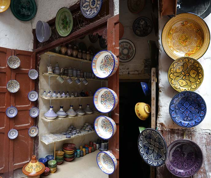 fez ceramics, painted bowls