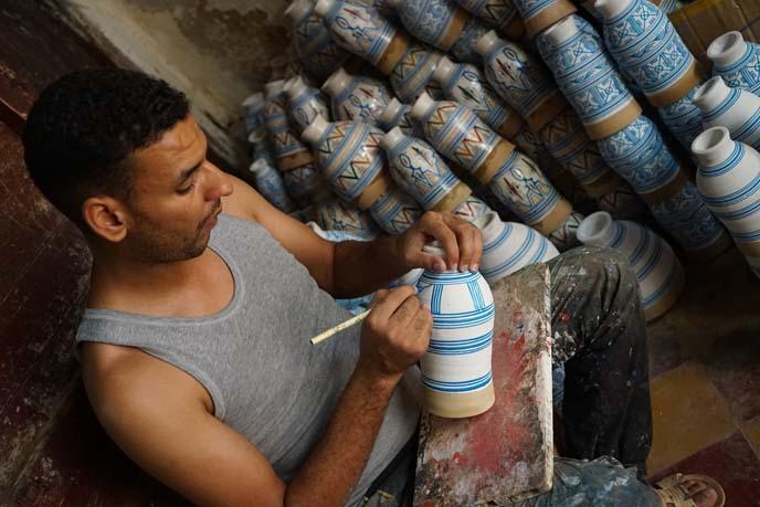 fez drum making painting workshop