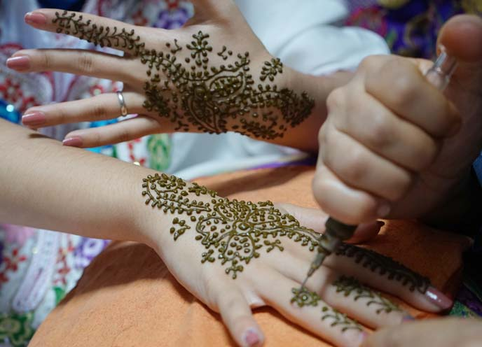 henna floral patterns, designs