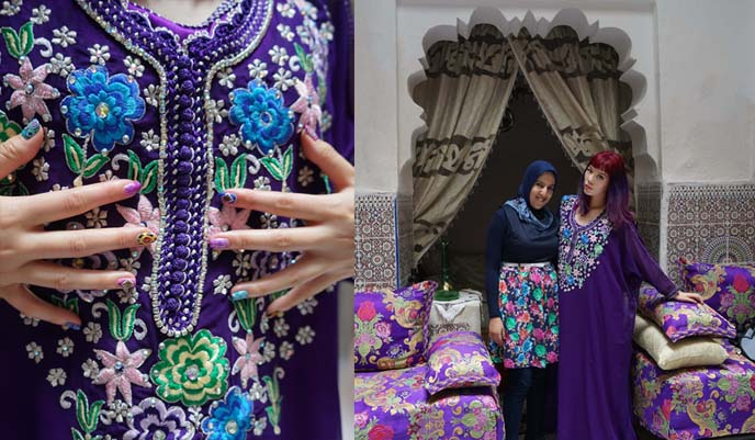 moroccan beaded dress