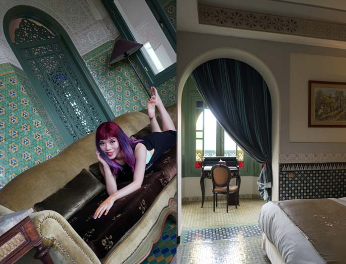 palais faraj suite bedroom, interior