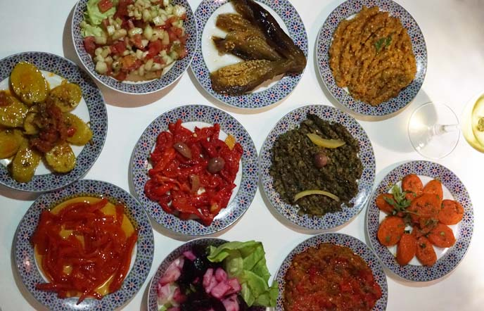 moroccan salads, appetizer