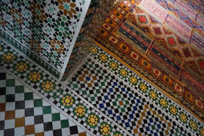 zellige, moroccan tile pattern floor