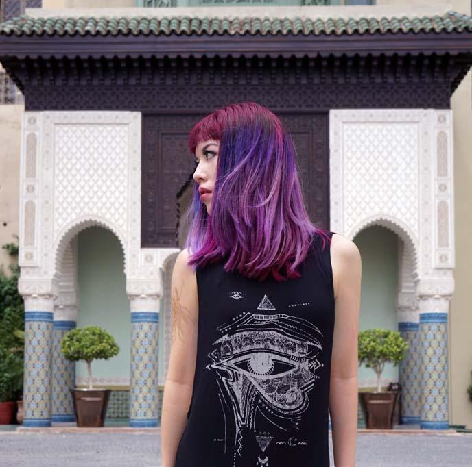 lavender ombre hair, light purple haircolor
