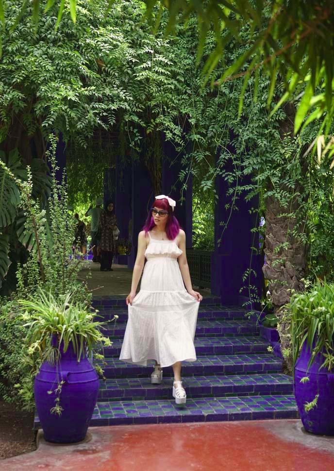 jardin majorelle morocco, fashion blogger