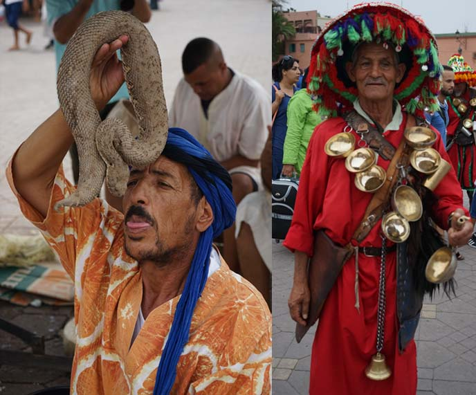 snake charmers, square of dead morocco