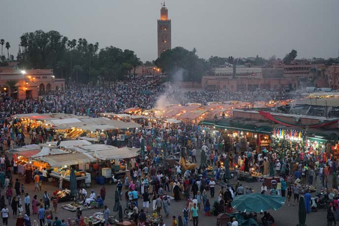 square of the dead marrakech view night