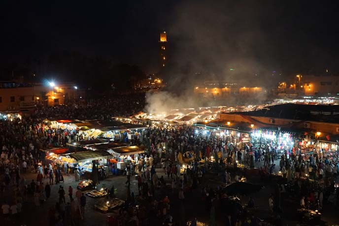 marrakesh square market medina nighttime