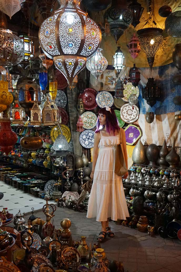moroccan lanterns, square of dead medina