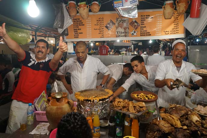 moroccan men, marrakesh street food