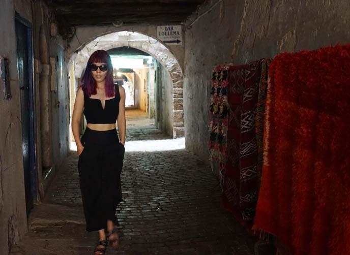 Essaouira tunnels, morocco beach town