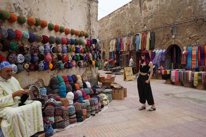 fez hat store, rainbow morocco