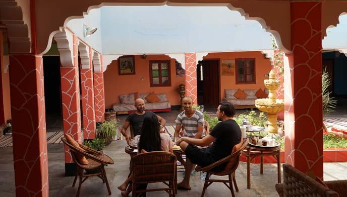 moroccan berber breakfast, homestay