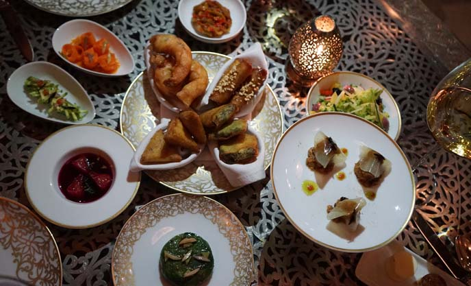 moroccan appetizers, molecular gastronomy