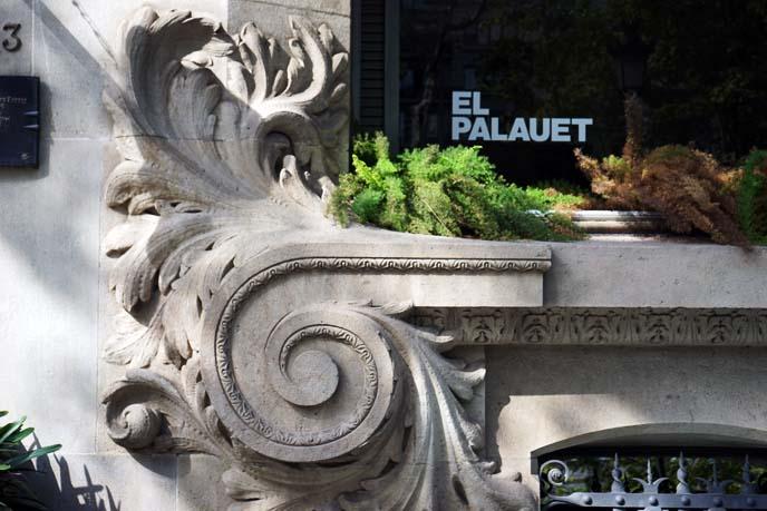 curved art nouveau sculptures
