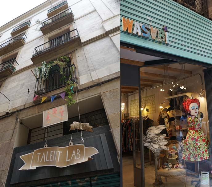 vintage retro clothing stores barcelona